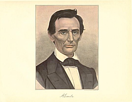Currier And Ives Print Abraham Lincoln