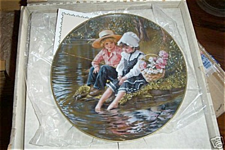SANDRA KUCK~ DAYS GONE BY ~  LITTLE ANGLERS (Image1)