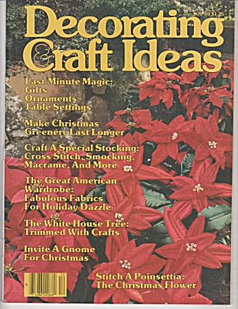 Vintage - Decorating Craft Ideas - December - 1980