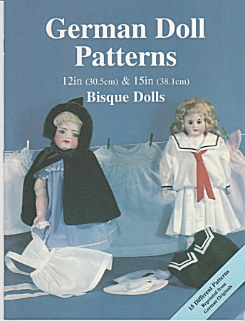 German Doll Clothes Patterns - 12in & 15in Bi