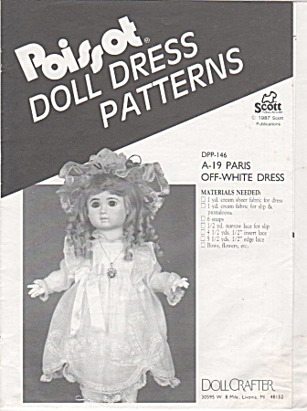 Poissot - (Dpp146) Doll Clothing Pattern - 19inch