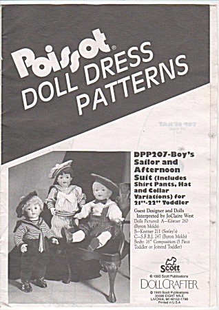 Poissot (Dpp176) Doll Clothing Pattern - 21-22