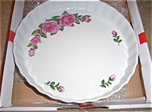 MIB Christineholm Quiche Flan Dish  Pink Rose (Image1)