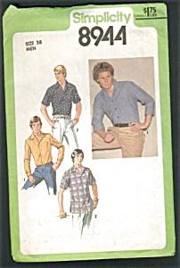 Vintage Mens 1970s Shirt Pattern UNCUT (Image1)