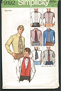 VINTAGE Mens Accessories Ties Pattern UNCUT (Image1)