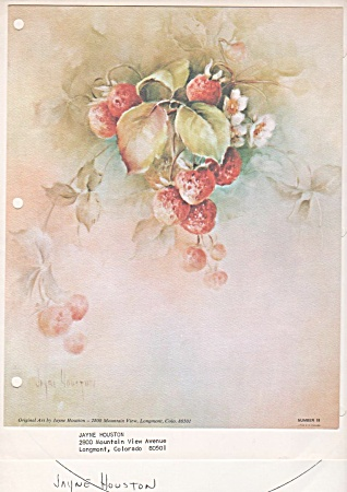 Vintage - Jayne Houston - Strawberries