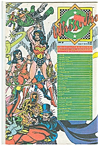 Who's Who # 24 Dc Comics April 1987
