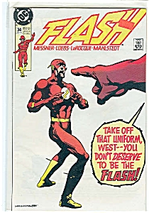 Flash - DC comics  # 34  Jan. 1990 (Image1)