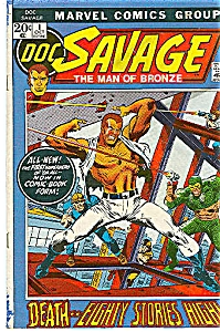 DOC SAVAGE - Marvel Comics # 1 Oct. 1972 (Image1)