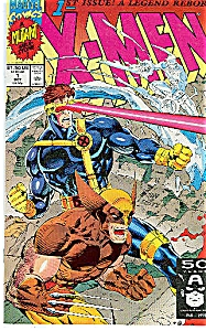 X-MEN #1 1C WOLVERINE CYCLOPS COVER 1ST ISSUE 1991 (Image1)