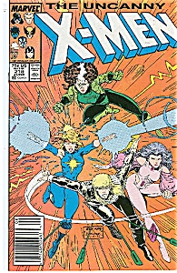X-Men -  Marvel comics - #218  June 1987 (Image1)