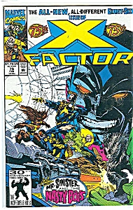 X-Factor - Marvel comics -  75th - Feb. 1992 (Image1)