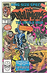 THE INHUMANS = Marvel comics.  # 1   April 1990 (Image1)