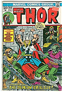 Thor - Marvel comics group - # 213  July 1973 (Image1)