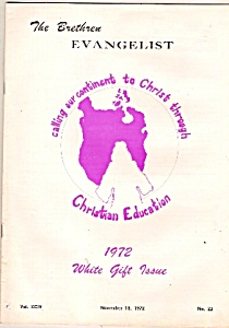 The Brethren Evangelist - November 18, 1972 (Image1)