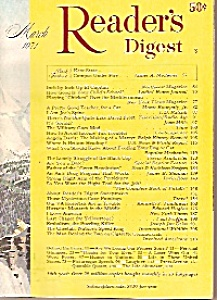 Reader's Digest -  March 1971 (Image1)