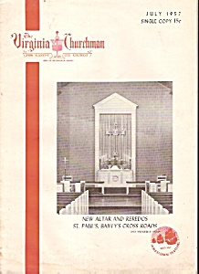 The Virginia Churchman- July 1957