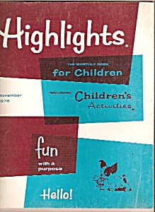 Highlights for children- November 1978 &  October 1976- (Image1)