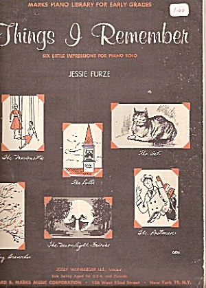 Things I Remember - Piano Solos -copyright 1959