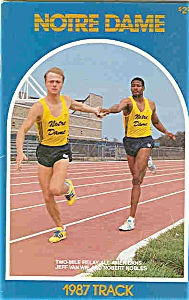 Notre Dame Track Guide 1987 (Image1)