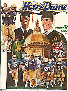 Notre Dame Football Guide 1983