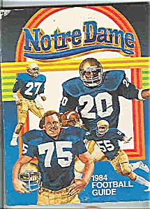 Notre Dame 1984 Football Guide (Image1)