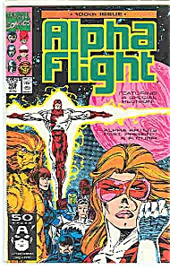 Alpha Fl;ight - Marvel Comics - # 100 Sept. 1991