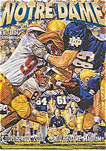 Notre Dame-=USC football game program 2001 (Image1)