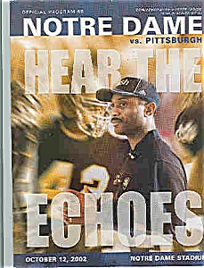 Notre Dame - Pittsburgh Nd Football Program Oct. 2002