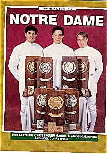 Notre Dame Men's & Women's Fencing 1990 (Image1)