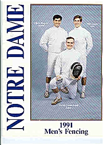 Notre Dame Men's And Women's Fencing 1991