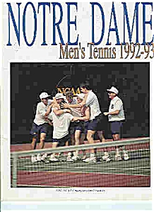 Notre Dame Men's & Women's tennis guide 1992-93 (Image1)