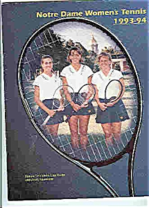Notre Dame Men's and Women's Tennis guides 1993-94 (Image1)