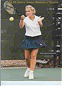 Notre Dame's Mens and womens Tennis guide 1994-95 (Image1)