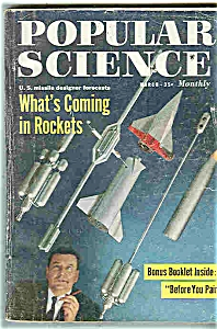 Popular Science magazine - March  1958 (Image1)