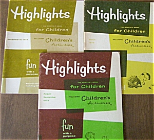 Highlights Children's Magazine Books 1973 LOT 3 (Image1)