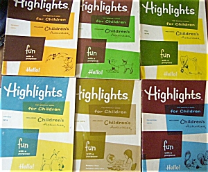 Highlights For Children - Magazine Books Lot 1974