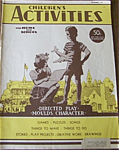 Children's Activities - Sept. 1950 TOYS - DOLL AD VTG (Image1)