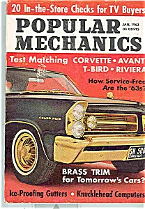 Popular Mechanics Magazine - Jan. 1963