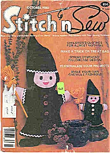 Stitch N Sew Magazine - October 1980