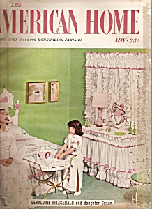The American Home - March  1956 GERALDINE  FITZGERALD (Image1)