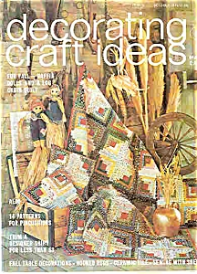 Decorating Craft Ideas - October 1975