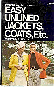 EASY UNLINED JACKETS, COATS, ETC. - from Vogue patterns (Image1)
