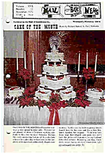 Mail Box News - Cakes Of The Month - Nov. & Dec. 1972