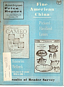 Antique Price Report - November 1978