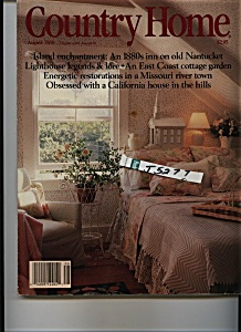 Country Home Magazine - August 1988