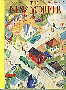 The New Yorker magazine July 19, 1947 DUVOISIN COVER (Image1)
