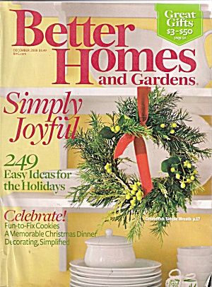 Better Homes And Gardens - December 2008