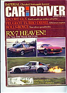 Car and Driver magazine - January 1981 (Image1)