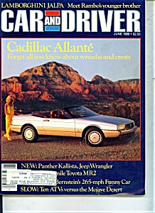 Car and Driver Magazine- June 1986 (Image1)